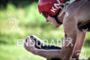 Matt Hanson during the bike portion of the 2016 Ironman…