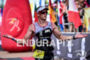 Matt Hanson during the finish portion of the 2016 Ironman…